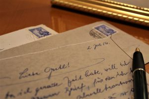 Old letters Many letters written between Ernest and Charlotte Kading until they were reunited in America