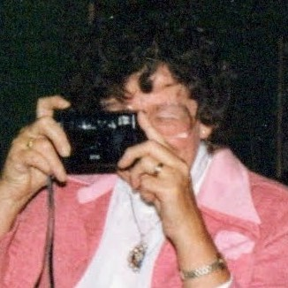 Helen Russell Doland of Millbrook, New York with her Camera