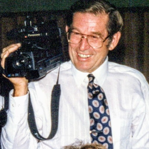 John Kading of Millbrook, New York with his video camera