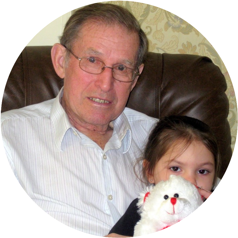 John Kading of Millbrook, New York with his Great Granddaughter, Jasmyn