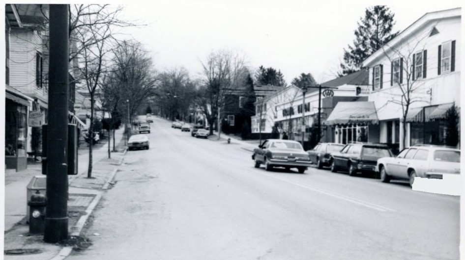 Looking East up Franklin Avenue in Millbrook, New York